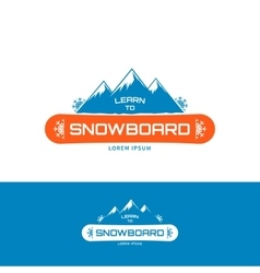 Learn to Snowboard vector image