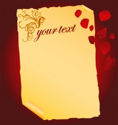 love letter vector image vector image