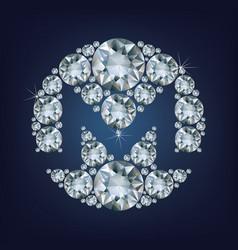 monero xmr crypto currency coin on blockchain vector image vector image
