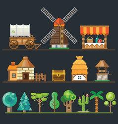 Old village vector image vector image