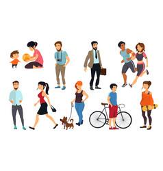 peoples walking on street vector image vector image