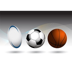 Rugby Football and Basketball background vector image