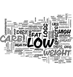 whither low carb text word cloud concept vector image vector image