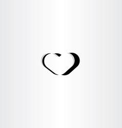 black heart logo icon symbol element sign vector image vector image