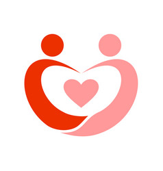 couple in love swoosh symbol vector image vector image