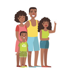 father mother teenage daughter and young son vector image
