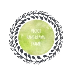 Hand drawn wreath set made in Leaves vector image