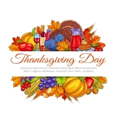 Thanksgiving day greeting card decoration vector