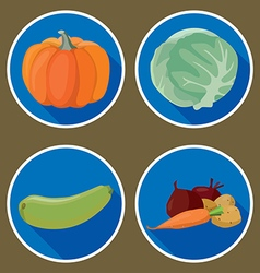 vegetables4 vector image vector image