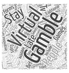 virtual gambling Word Cloud Concept vector image vector image