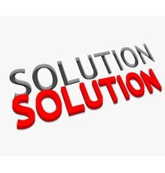 3d solution text design vector