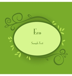 Eco card vector image vector image