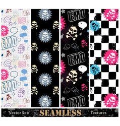 emo seamless vector image vector image
