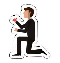 Groom man proposal image vector