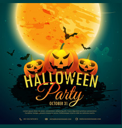 halloween festival party background vector image