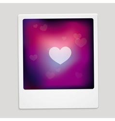 heart sign on polaroid frame - abstract car vector image