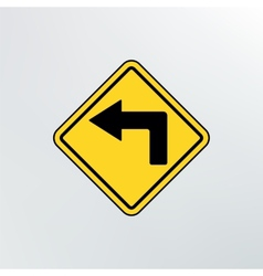 left turn ahead icon vector image