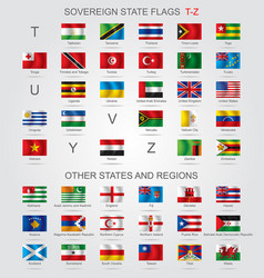 set of sovereign state flags t-z and other vector image vector image