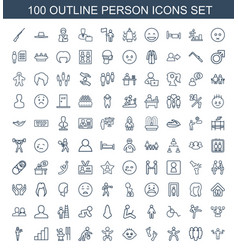100 person icons vector
