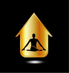 A person meditating or performing yoga vector