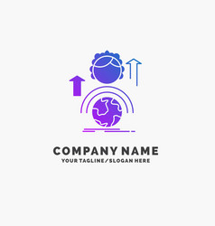 Abilities development female global online purple vector