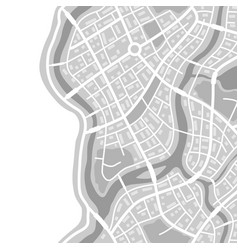 abstract city map seamless pattern vector image