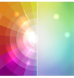 Abstract mosaic color of the rainbow behind a vector image
