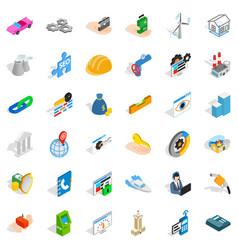Adress icons set isometric style vector