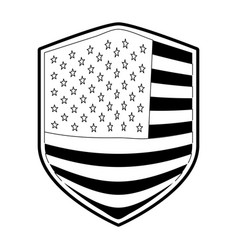 Badge of flag united states of america in vector