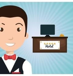 Bellman hotel employee icon vector