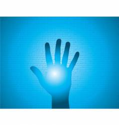 binary hand vector image