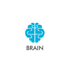 brain think logo vector image