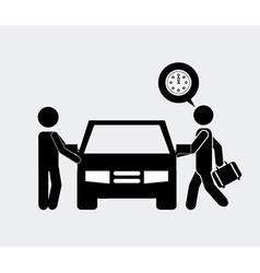 Car driver vector