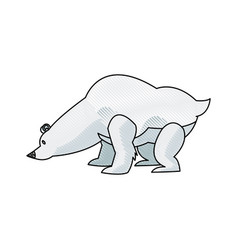 Cartoon bear animal winter wildlife vector