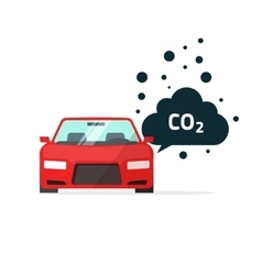 co2 emissions car carbon vector image