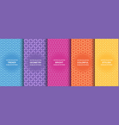 collection colorful geometric simple seamless vector image