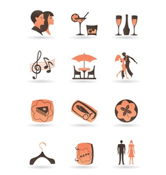 Confectionery restaurant and club icons vector