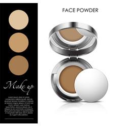 Cosmetic powder vector