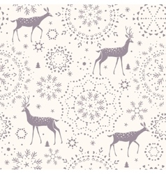 Deer seamless winter vector