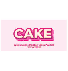 Delicious pink 3d font styles design templates vector