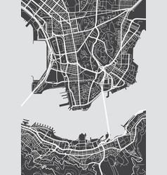 Detailed map hong kong vector
