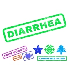 Diarrhea Rubber Stamp vector