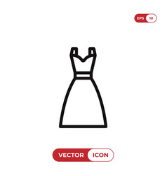 dress icon woman clothes symbol vector image