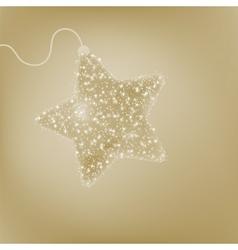 Elegant christmas star vector