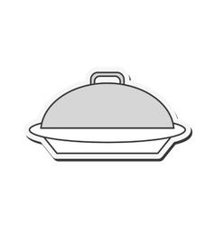 Elegant food tray icon vector