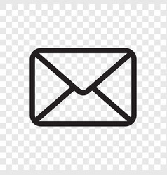 email envelope icon mail message symbol isolated vector image