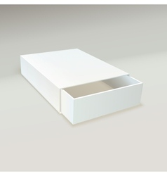 Empty open box of matches vector image