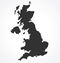 england uk united kingdom map simplified vector image