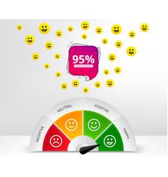 Feedback design customer satisfaction meter with vector