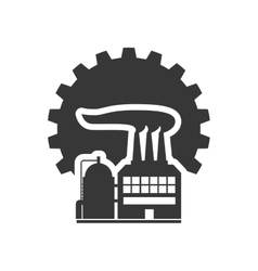 gear factory silhouette design vector image